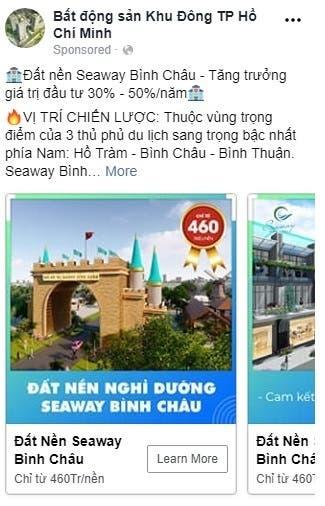 Facebook ads - Seaway Binh Chau