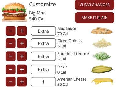 Native android app for food shop