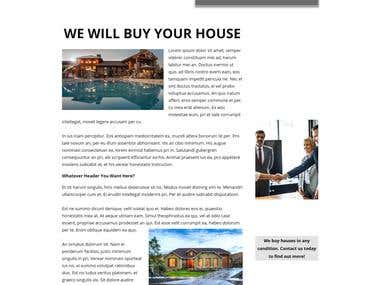 Real Estate Investor Website
