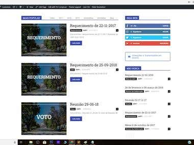 Portugal Municipal authority website