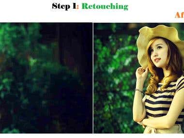 Step 1: Retouching