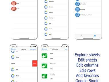 Iphone spreadsheet app