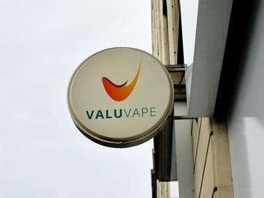 Valu Vape Logo Design