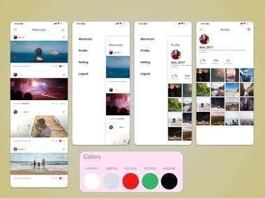 Social Media Android app