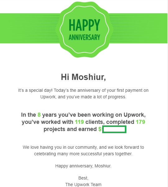 7,109 successful working hours on Upwork  | Freelancer