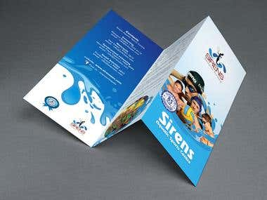 Trifold brochure - Aquatic Sports.
