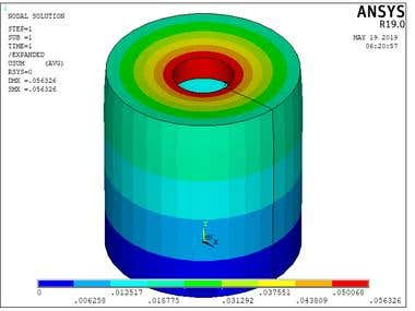 Analysis of 5 problems Using Ansys Apdl