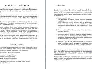 REDACCIÓN DE ARTICULO DE ADITIVOS PARA COMBUSTIBLE