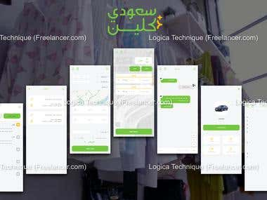 Laundry app with pickup and delivery from user's location