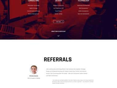 Concept, Design and Development of corporate web pages