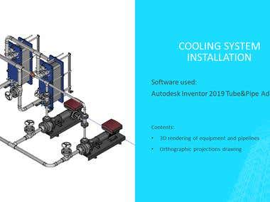 Autodesk Inventor (|Tube&Pipie Add-In): Cooling System