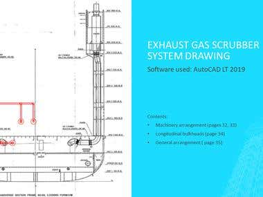 AutoCAD LT: Exhaust gas scrubber system