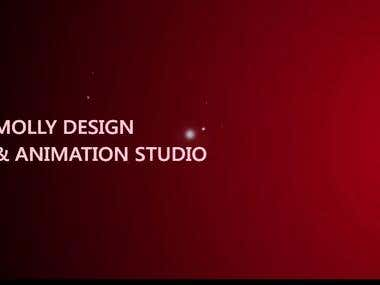 Logo Animation for Molly Design & Animation Studio