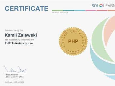 PHP FUNDAMENTAL KNOWLEDGE Course by SoloLearn