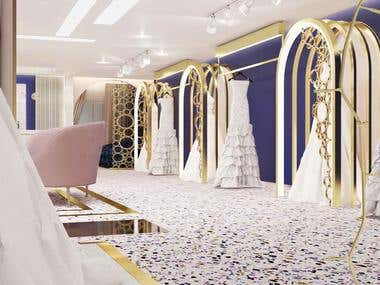 wedding dresses store design