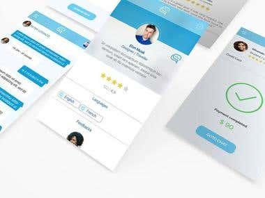 Metis Travel Startup App UI UX