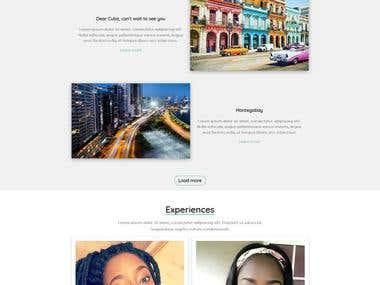 Travel blogger Website design