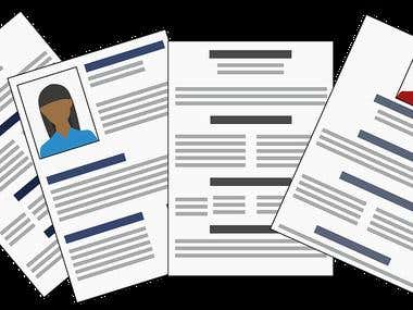 CV/Resume writing