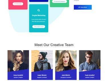 Web Site For Digital Marketing Agency