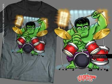 hulk smash the drums