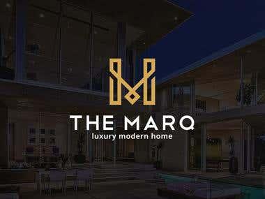 Luxury modern real estate logo