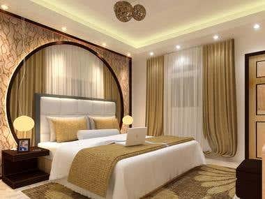 interior design of bed room
