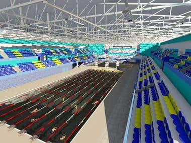 Olympic swimming design (exterior and interior )