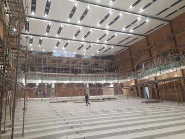 interior design of Convention Center