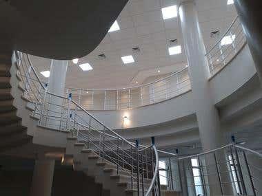 interior design of Museum 400 m2