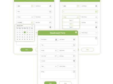 Form UI design