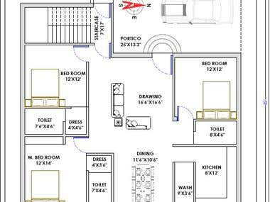 Architectural Floor Plan_Indian Style