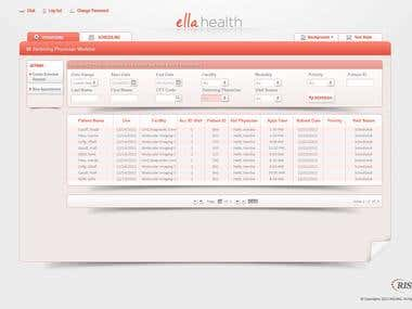 "UI / UX Design for ""Ella Health"" Dashboard"