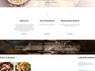 WordPress Based Website for Putien Restaurant
