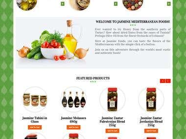 WordPress Website for Jasmine Foods