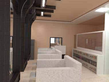 Interior Design for hotel lobby.