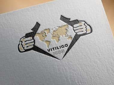 Logo Design For A Man, Brand's Named Vitiligo Icon