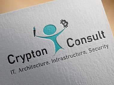 Logo Design For A Company Name Crypton Consult