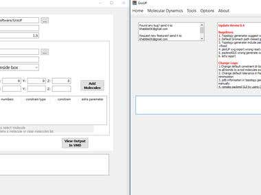 GroUP : Cross Platfrom GUI interface for MD and Packmol