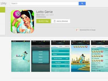 Android App  ---  Lotto Genie