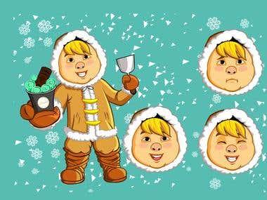 eskimo icecream shop mascot
