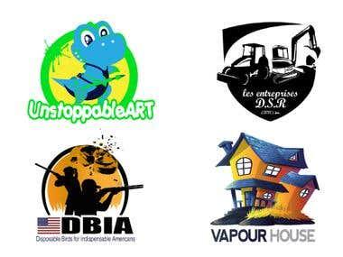 Detailed vector logos design
