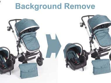 Baby Care While Background Remove with natural shadow