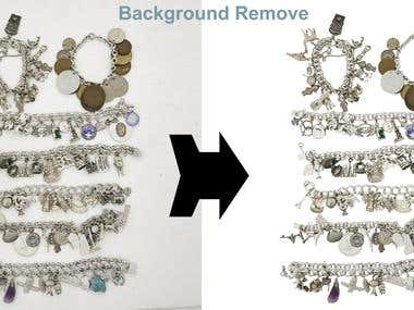 Jewelry image editing and Background remove