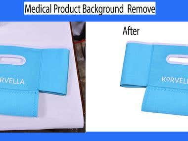 Medical Product image editing and Background remove