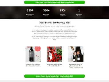 Landing Page for Wine Distributor