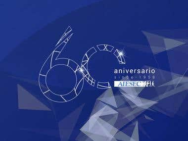 Línea gráfica de Evento Aniversario