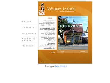 Website for Hair saloon