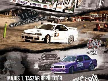 Flyer for Drift, Drag and Gymkhana race