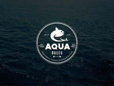Logo for an aquaculture company