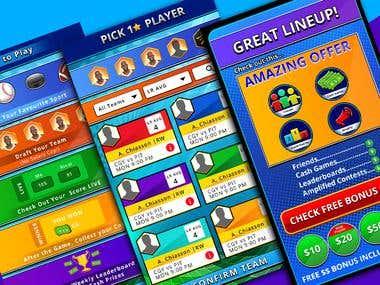 App Game UI design